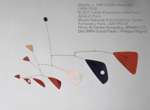 Calder Alexander (1898-1976) © 2017 Calder Foundation New York / ADAGP, Paris Musée National d'art moderne, Centre Pompidou, Paris – AM1993-59 Photo © Centre Pompidou, MNAM-CCI, Dist.RMN-Grand Palais / Philippe Migeat