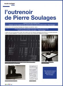 exposition itinérante Pierre Soulages _ kakemono outrenoir
